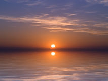 Crepúsculo mediterrâneo Imagens de Stock