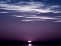 Crepúsculo mediterrâneo Imagem de Stock