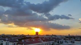 Crepúsculo na cidade Imagem de Stock