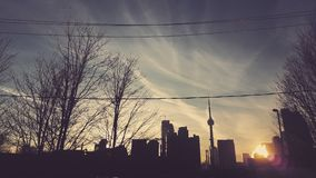 Crepúsculo na cidade Fotografia de Stock Royalty Free