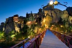 Crepúsculo na cidade de Cuenca Fotos de Stock Royalty Free