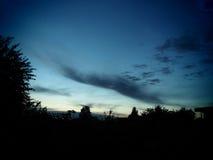 Crepúsculo na natureza fotos de stock royalty free