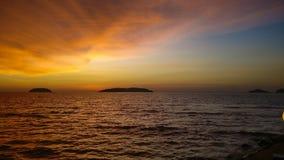 Crepúsculo no mar Foto de Stock