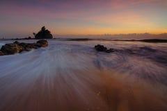 Crepúsculo no mar Imagens de Stock Royalty Free