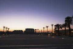 Crepúsculo no templo de Karnak imagem de stock royalty free