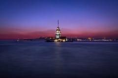 Crepúsculo novo da torre do ` s Imagem de Stock Royalty Free