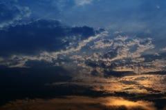 Crepúsculo nublado imágenes de archivo libres de regalías