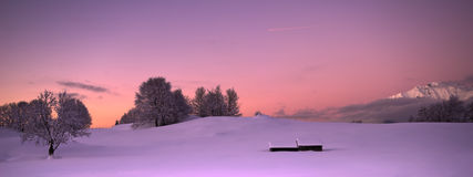 Crepúsculo Pastel da montanha Imagem de Stock Royalty Free