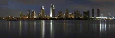 Crepúsculo, San Diego da baixa Imagem de Stock Royalty Free
