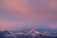Crepúsculo, serra montanhas de Nevada Fotografia de Stock Royalty Free
