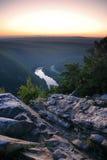 Crepúsculo sobre da montanha Fotografia de Stock Royalty Free