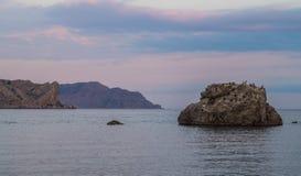 Crepúsculo sobre o Mar Negro Fotografia de Stock Royalty Free