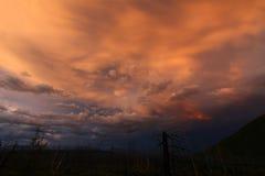 Crepúsculo sobre o parque nacional de geleira Fotos de Stock