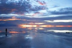 Crepúsculo sobre a paisagem surreal Imagem de Stock