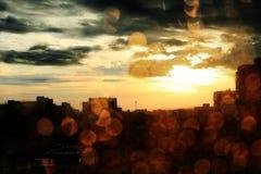Crepúsculo urbano Imagem de Stock