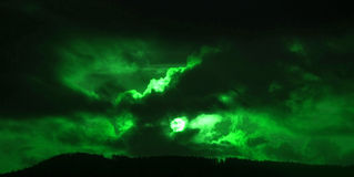 Crepúsculo verde Imagen de archivo