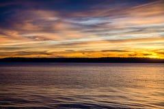 Crepúsculo Wispy das nuvens foto de stock royalty free