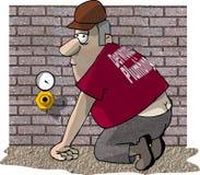 Crepa degli idraulici Fotografie Stock Libere da Diritti