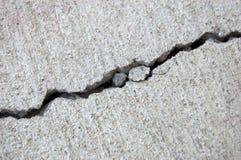 Crepa del cemento Fotografia Stock