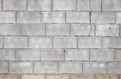 Crepa del muro di cemento Fotografia Stock Libera da Diritti