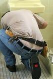 Crepa dell'idraulico Immagini Stock Libere da Diritti