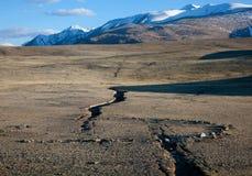 Crepa di terremoto fotografia stock