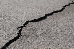 Crepa nel asfalt Immagini Stock