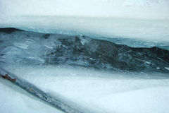Crepa nel ghiaccio Fotografia Stock