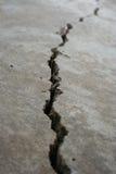 Crepa in pavimentazione Fotografia Stock