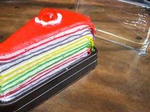Crepe το ουράνιο τόξο κέικ Στοκ Εικόνα