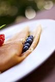 Crepe with blueberries Stock Photo