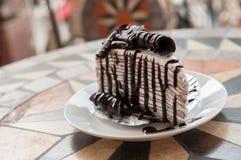 Crepe cake chocolate Stock Photo