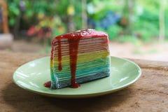 Crepe Cake delicious Stock Photo