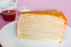 Crepe Cakes. Stock Photo