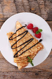Crepe with chocolate Royalty Free Stock Image