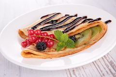Crepe. Close up on gourmet crepe stock photography