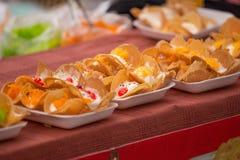 Crepe curruscante tailandesa (Kanom Buang) Fotos de archivo libres de regalías