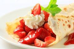 Crepe de fraise Photo libre de droits
