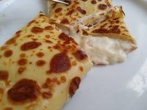 Crepe de queso y jamon Royalty Free Stock Image