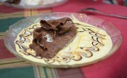 Crepe del cacao imagen de archivo