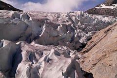Crepe del ghiacciaio Immagine Stock