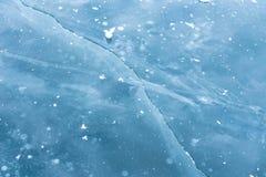 Crepe del ghiaccio sul lago Baikal fotografia stock libera da diritti