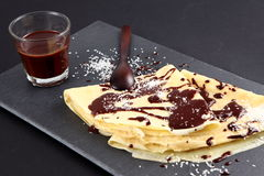 Crepe do chocolate Fotografia de Stock