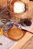 Crepe dulce con la miel de delicioso Imágenes de archivo libres de regalías