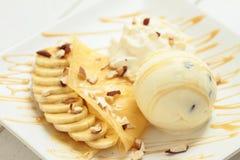 Crepe e gelato Fotografia Stock Libera da Diritti