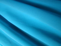 Crepe fabric texture blue color Stock Photography