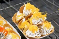 Crepe friável tailandês doce Fotos de Stock Royalty Free