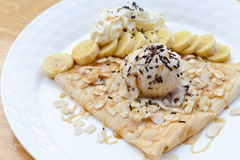 Crepe with ice cream Stock Photo