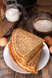 Crepe and ingredient Stock Photography