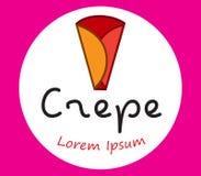 Crepe Logo Design Royalty Free Stock Image